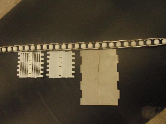 Moduler til frysebånd i rustfrit stål og nylon
