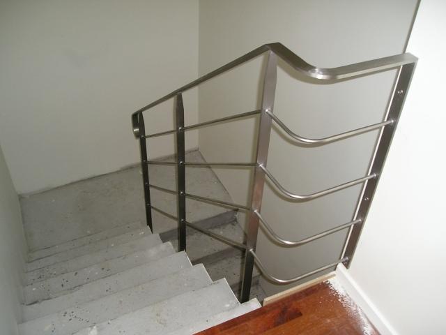 Trappegelænder glasblæst rustfrit stål