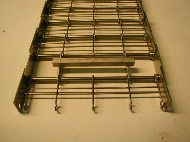 Medbringer i 10 x 10 massiv stål til krogbånd i rustfrit stål