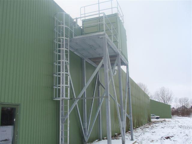 Arbejdsplatform i varmgalvaniseret stål