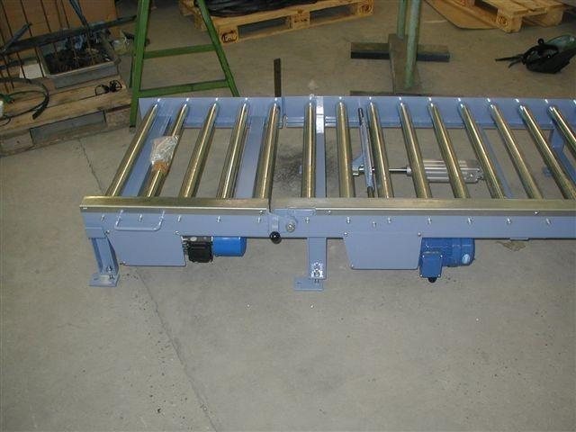 Rullebane med opluk og pneumatisk stop
